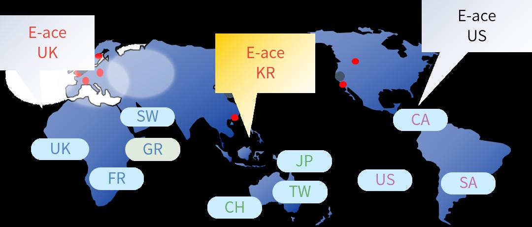 한국과 유럽, 미국 등 전세계로 뻗어나갈 E-ACE