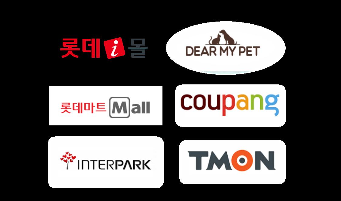 롯데i몰, DEAR MY PET, 롯데마트 Mall, 쿠팡, 인터파크, 티몬 입점